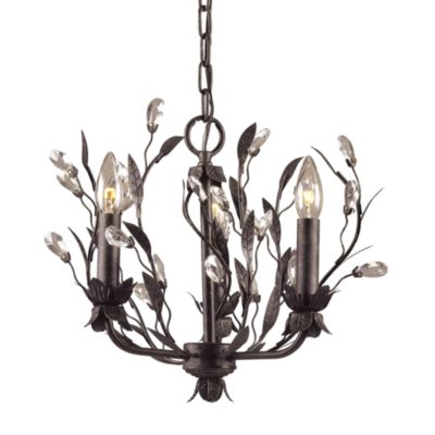 Elk Lighting 3-Light Chandelier Rust