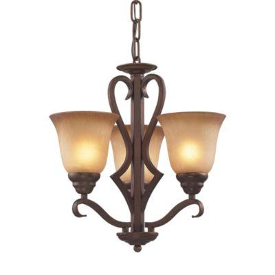 Elk Lighting 3-Light Amber Glass