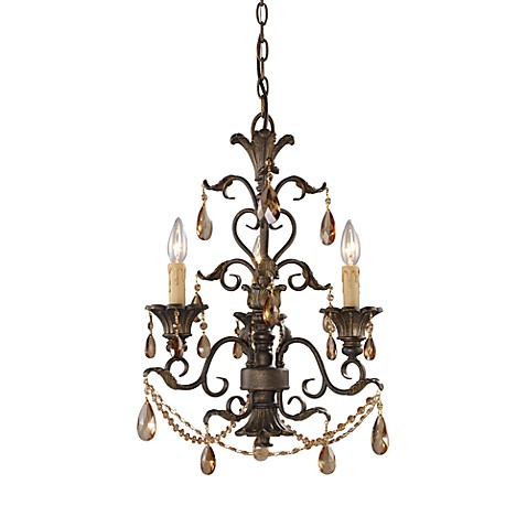 ELK Lighting Trump Home™ Rochelle 3-Light Chandelier with Amber Crystal