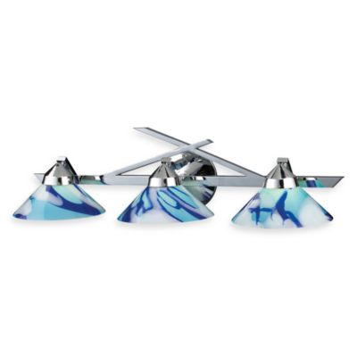 ELK Lighting Refraction 3-Light Wall Bracket In Polished Chrome