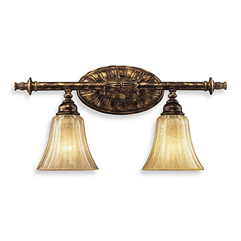 ELK Lighting Trump Home™ Bedminster 2-Light Vanity in Burnt Gold Leaf