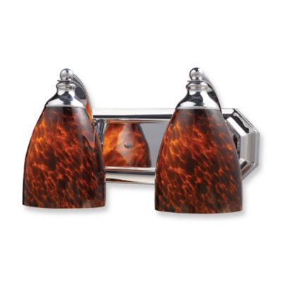 ELK Lighting Vanity Series 2-Light Vanity in Polished Chrome and Espresso Glass