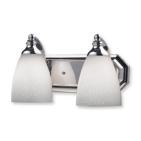 ELK Lighting Vanity Series 2-Light Vanity in Polished Chrome and Simply White Glass