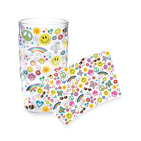 Tervis® 10-Ounce Wavy Wrap Tumbler in Peace, Rainbow and Smiley