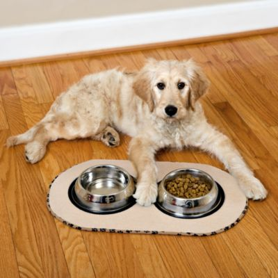 The Original™ Taupe Pet Bowl Mat in Large