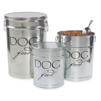 Harry Barker® Large Dog Food Storage Canister in Silver