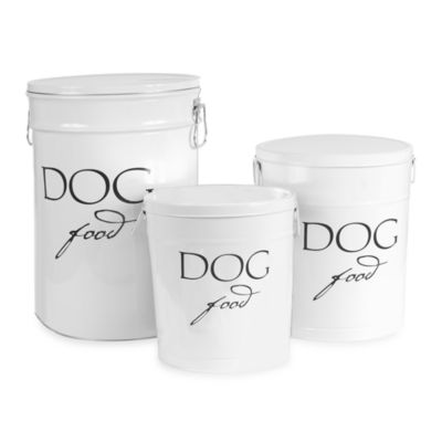 Harry Barker® Large Dog Food Storage Canister in White