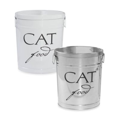 Harry Barker® Cat Food Storage Canister in White