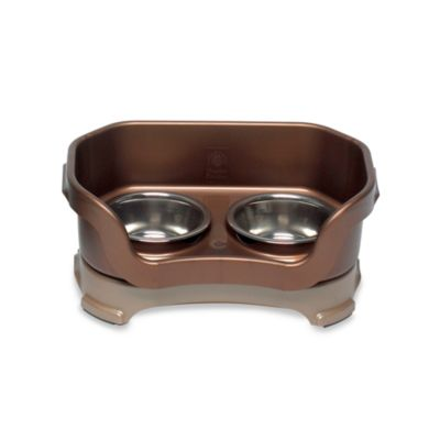 Neater Feeder® Mess-Proof Cat Bowl in Bronze