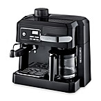 DeLonghi BCO320T Combination Steam Espresso Drip Coffee Cappuccino and Latte Machine in Black