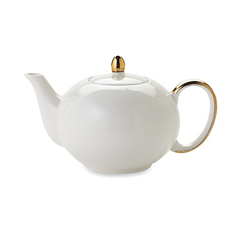 Classic Coffee & Tea 10-Ounce Teapot in Cream
