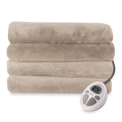 Sunbeam® Therapedic Microplush Queen Heated Electric Blanket in Mushroom