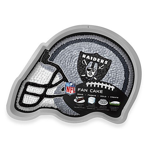 NFL Oakland Raiders Fan Cake Silicone Cake Pan