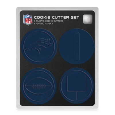 NFL Denver Broncos Cookie Cutter Set