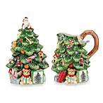 Spode® Christmas Tree Sculpted Sugar and Creamer