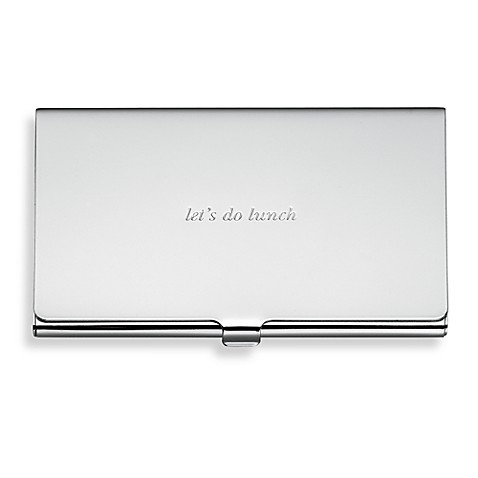 kate spade new york Silver Street Card Holder
