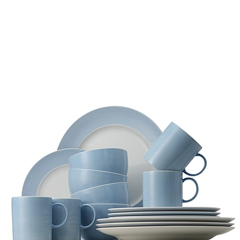 Rosenthal Sunny Day 16-Piece Dinnerware Set in Pastel Blue