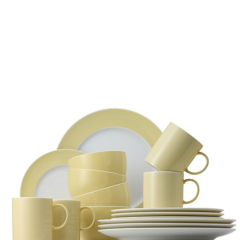 Rosenthal Sunny Day 16-Piece Dinnerware Set in Pastel Yellow
