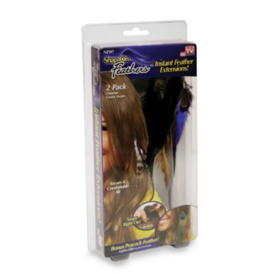 Snap-On Feathers™ instant Feather Extensions in Chestnut/Purple