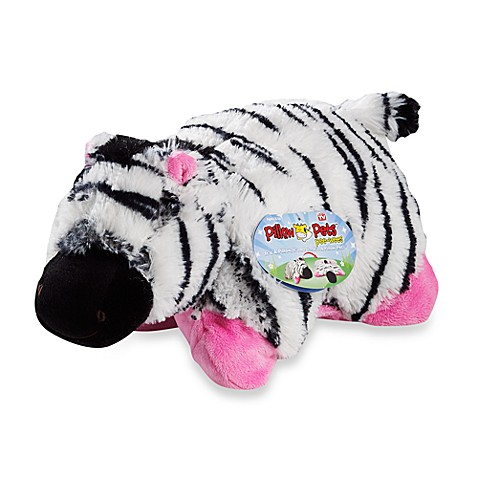 Zebra Pet Names Pillow Pets™ Pee-wee in Zebra