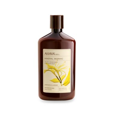 Ahava Mineral Botanic 17-Ounce Velvet Cream Wash in Honeysuckle and Lavender