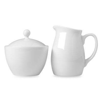 Luigi Bormioli Porcelain Sugar and Creamer