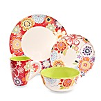 Euro Ceramica Floral Delight 8-Inch Salad Plates (Set of 4)