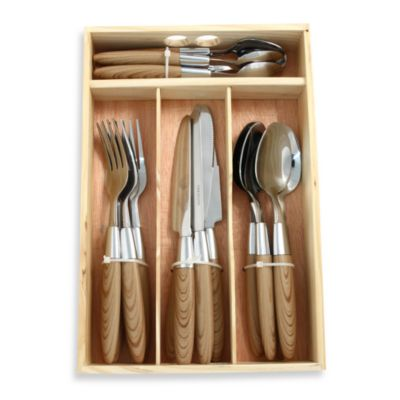 Hampton Silversmiths Palma 16-Piece Flatware Set with Caddy