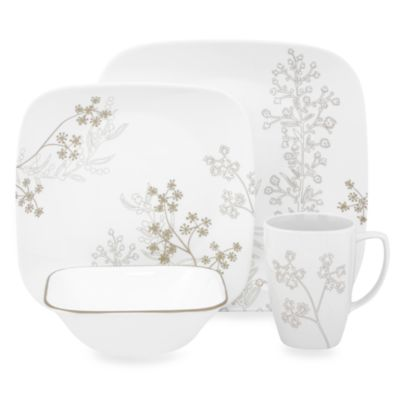 Corelle® Square™ Shadow Dance 16-Piece Dinnerware Set