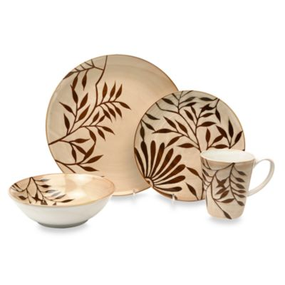 Baum Vineworks 16-Piece Dinnerware Set in Cream