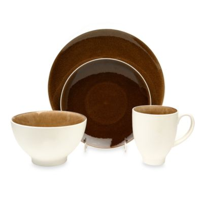 Baum Max 16-Piece Dinnerware Set in Taupe