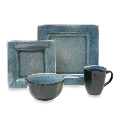 Baum Squared 16-Piece Dinnerware Set in Blue