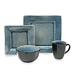 Squared Blue 16-Piece Dinnerware Set