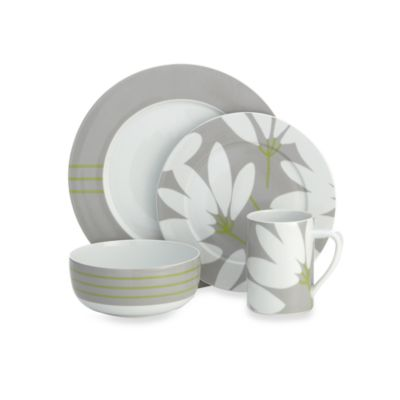 echodesign Fan Floral 4-Piece Place Setting