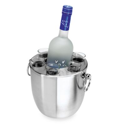 Stainless Steel Double Wall Vodka Server Set
