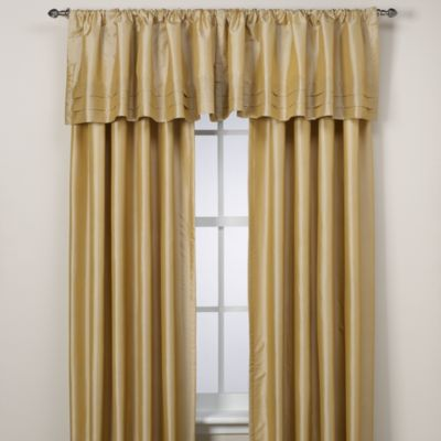 Argentina Tailored Valance in Gold