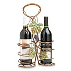 Autumn Concord 2-Bottle Metal Wine Basket