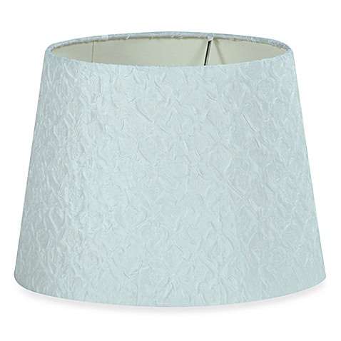 12-1/4-Inch Textured Fabric Lamp Shade in White