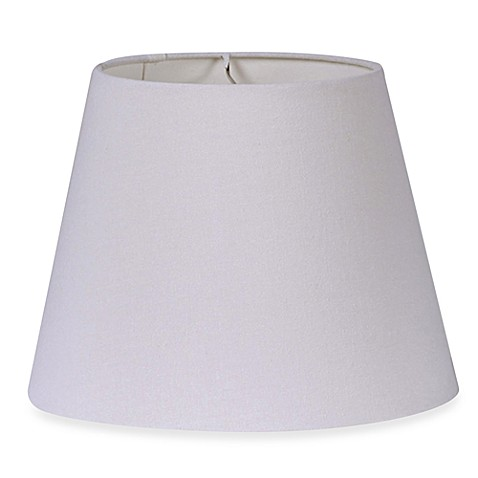 Mix & Match Medium 12-Inch Brussels Fabric Lamp Shade in White