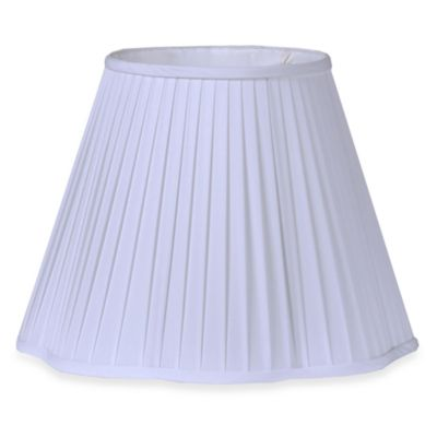 Pleated Fabric 11 3/4-Inch Shade with Scalloped Bottom