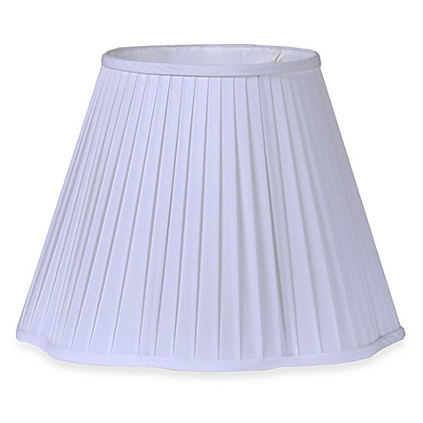 Mix & Match Large 15.5-Inch Pleated Lamp Shade in White