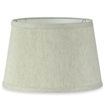 Natural Round 10-Inch Fabric Shade