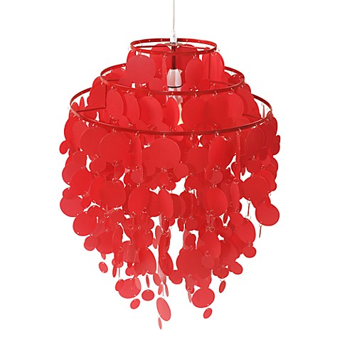 Red Disk Pendant Lamp