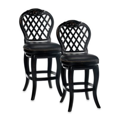 Hillsdale Braxton 30-Inch Swivel Barstool in Black