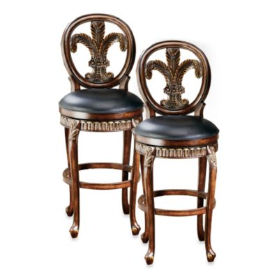 Hillsdale Fleur de lis 25-Inch Swivel Counter Stool