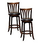 Hillsdale Savana Swivel Bar Stool and Counter Stool in Cherry