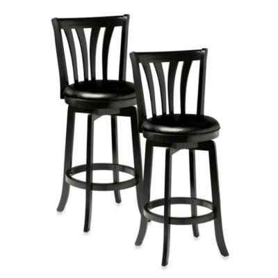 Hillsdale Savana 26-Inch Swivel Counter Stool in Black