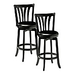 Hillsdale Savana Swivel Bar Stool and Counter Stool in Black