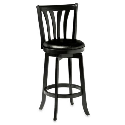 Hillsdale Savana 30-Inch Swivel Barstool in Black
