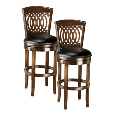 Hillsdale Vienna Swivel Counter Stool and Swivel Barstool
